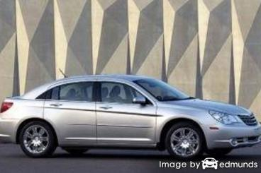 Insurance rates Chrysler Sebring in San Francisco