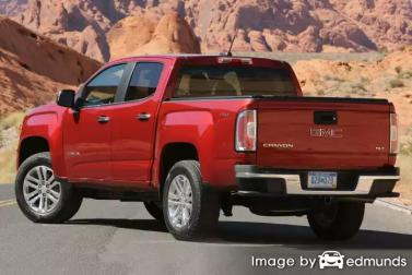 Insurance quote for GMC Canyon in San Francisco