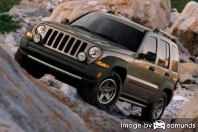 Insurance rates Jeep Liberty in San Francisco