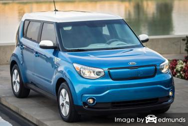 Insurance quote for Kia Soul EV in San Francisco