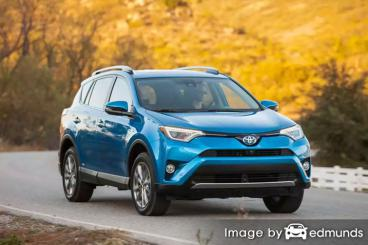 Insurance rates Toyota Rav4 Hybrid in San Francisco